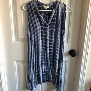UMGEE USA LARGE TYE DYE SLEEVELESS TUNIC